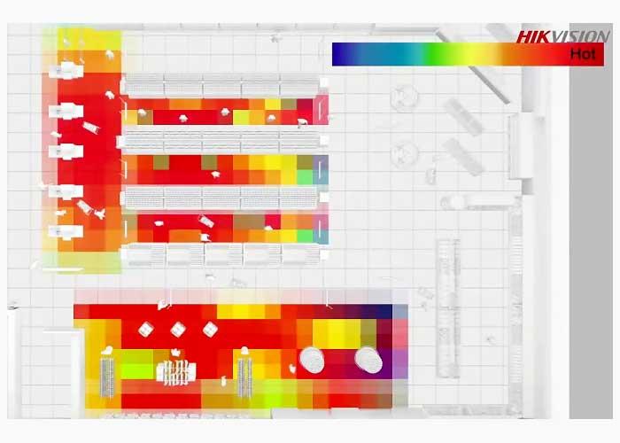 Heat Map در دوربین مدار بسته هایک ویژن