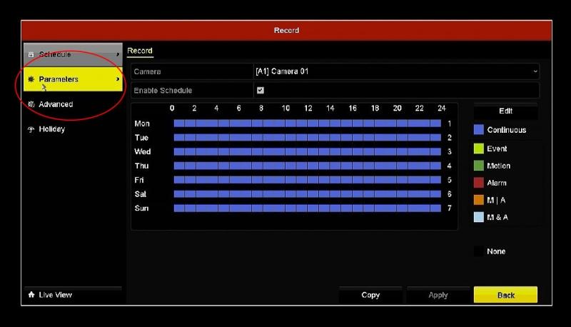 فعالسازی H.265+ در DVR هایک ویژن