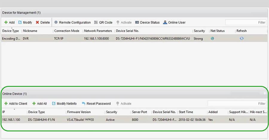 آموزش اضافه کردن دستگاه dvr یا nvr روی اپلیکیشن ivms-4200