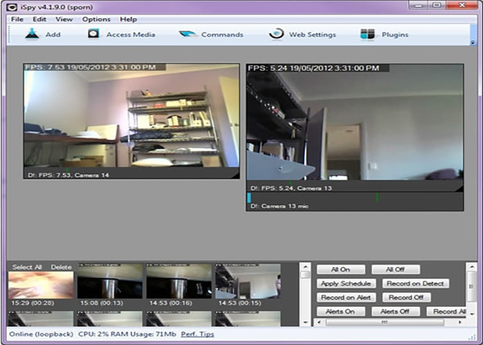 نرم افزار DVR برای کامپیوتر
